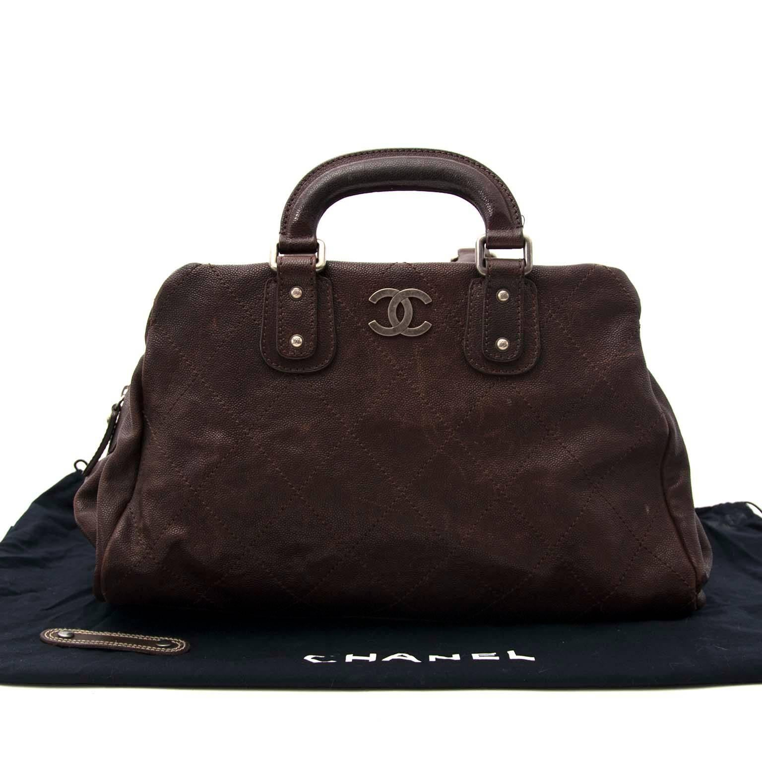 83785525dfb81f Chanel Brown Caviar Leather Outdoor Ligne Doctors Bag at 1stdibs