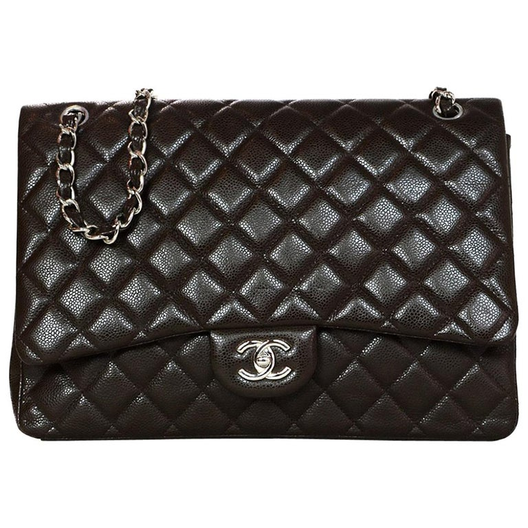 704e5b83347a Chanel Brown Caviar Quilted Leather Single Flap 13