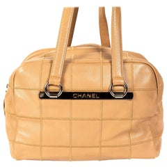 Chanel Brown Coco Bar Caviar Leather Shoulder Bag