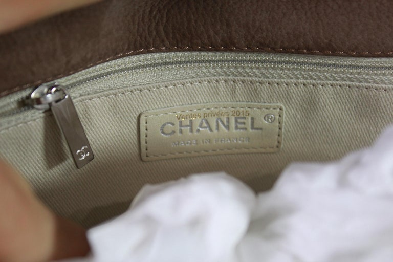 Women's or Men's Chanel Brown Crossbidy Classic Leather Bag For Sale