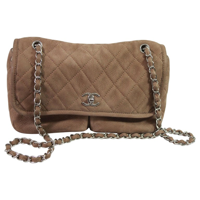 Chanel Brown Crossbidy Classic Leather Bag For Sale