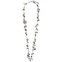 Chanel Brown Embellished Necklace