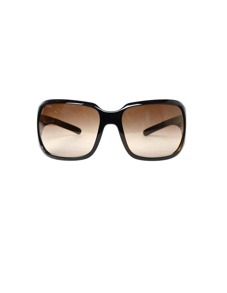 00f3fc0a0d M 5755dc9df739bc6fea000754 Source · Chanel Brown Frame Square Sunglasses W  CC At Arms For Sale at 1stdibs