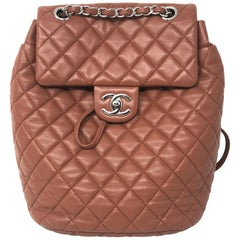 Chanel Brown Leather Backpack