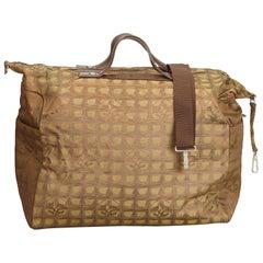 Chanel Brown New Travel Line Jacquard Bag