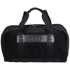 Chanel Brown Nylon Sports Line Duffle Bag