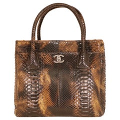 Chanel Brown Python Tote