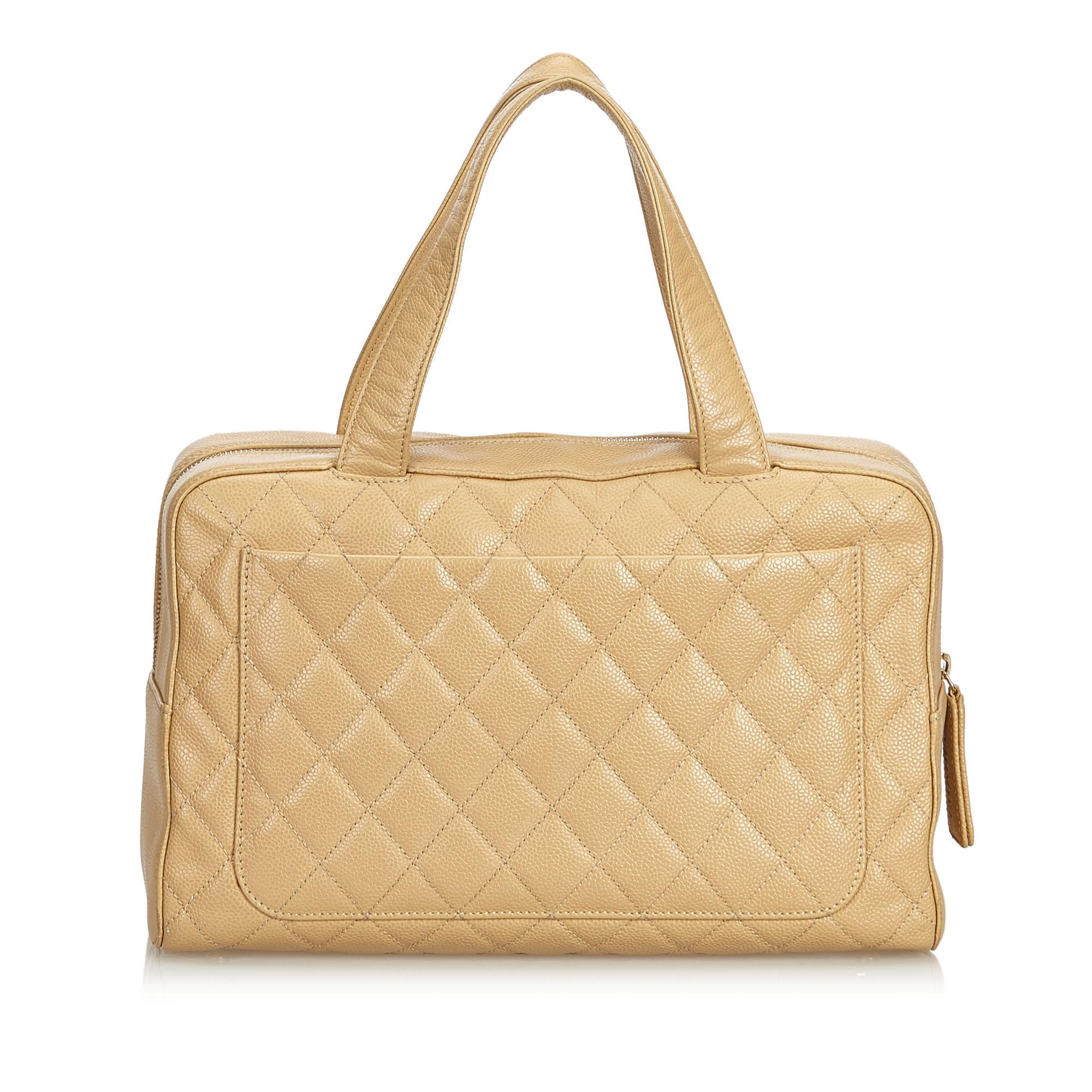 5cf98c0bfc324d Chanel Brown Quilted Caviar Boston Bag at 1stdibs
