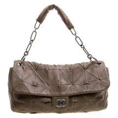 Chanel Brown Quilted Leather Urban Day Flap Shoulder Bag