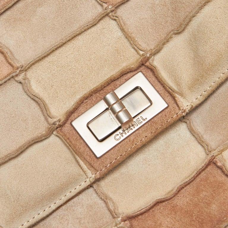 d58c6489a1a1 Chanel Brown Reissue Patchwork Flap Bag For Sale 7