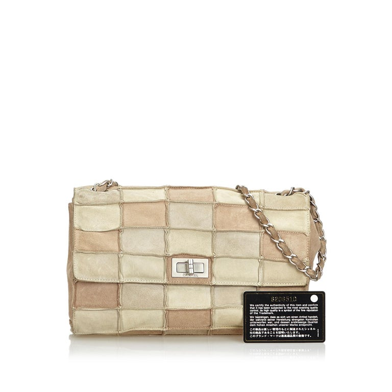 7be6bb0dddec Chanel Brown Reissue Patchwork Flap Bag For Sale 10