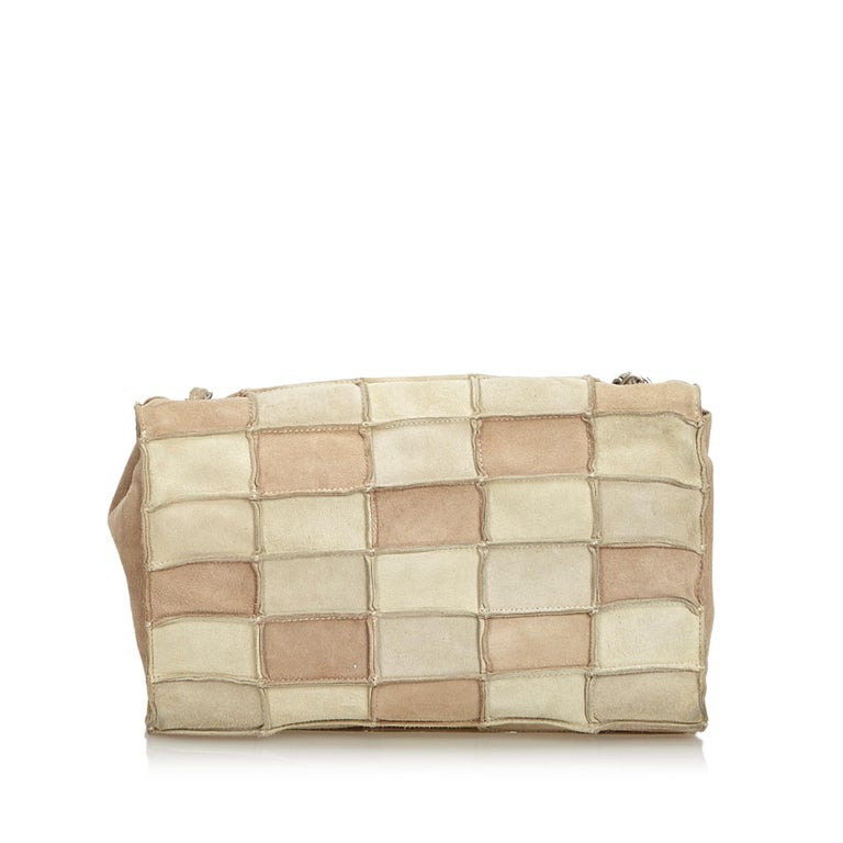 93d7ce98dbfb Beige Chanel Brown Reissue Patchwork Flap Bag For Sale