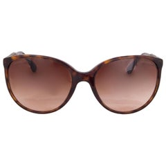 CHANEL brown tortoise BIJOU Sunglasses gradient brown Lenses 5306-B