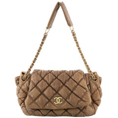 Chanel Bubble Accordion Flap Bag Quilted Lambskin Medium