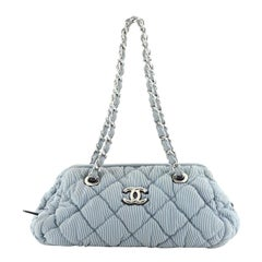 Chanel Bubble Bowler Bag Quilted Nylon Small