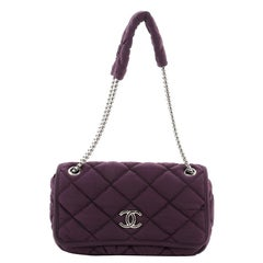 Chanel Bubble Flap Bag Quilted Nylon Medium
