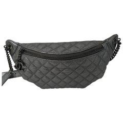Chanel Bum Bag Silver Metallic