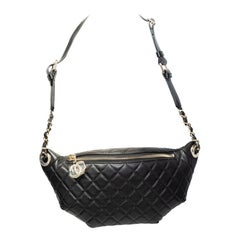 Chanel Bum Black Quilted Leather Waist Bag