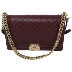 Chanel Burgundy Boy Bag