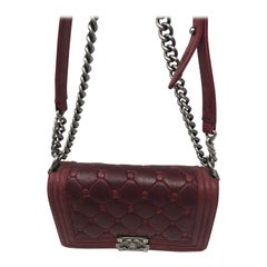 Chanel Burgundy Boy Bag Limited