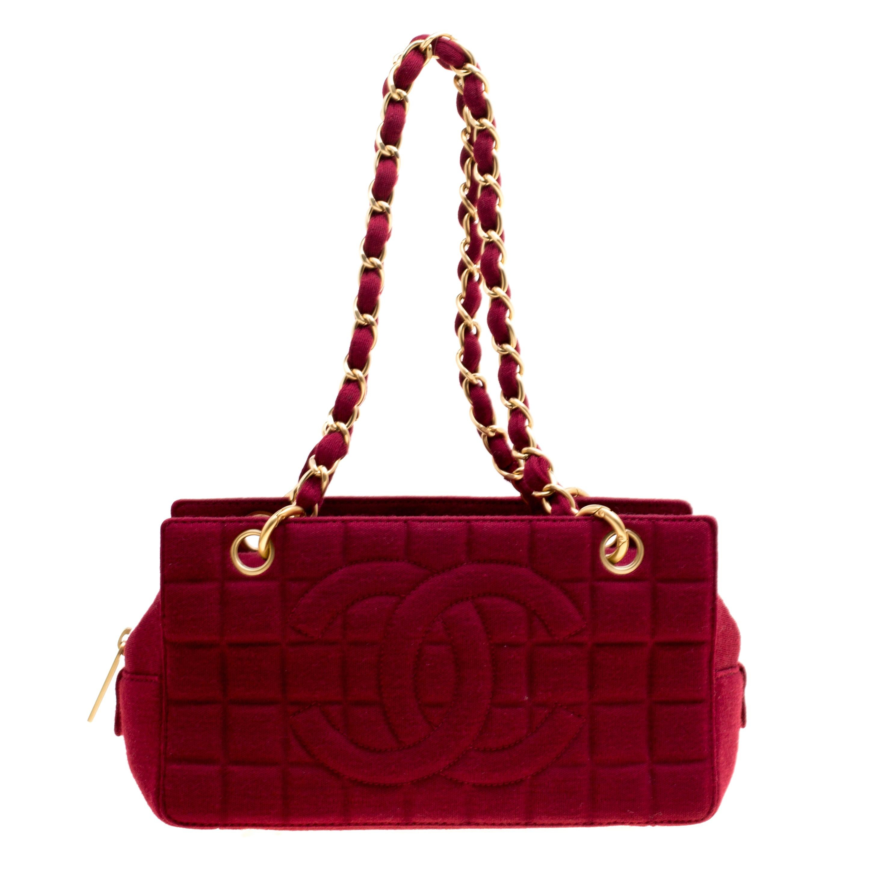 fe216d324cae5 Pre-Owned Chanel Dark Red Quilted Patent Jumbo Classic Double Flap Bag  ( 6