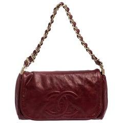 Chanel Burgundy Leather CC Timeless Flap Bag
