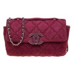 Chanel Burgundy Nubuck Leather Ultra Stitch Shoulder Bag