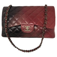 Chanel Burgundy Ombre Jumbo Classic Bag