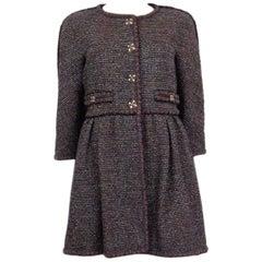 CHANEL burgundy wool 11A PARIS BYZANCE TWEED Coat Jacket 40 M