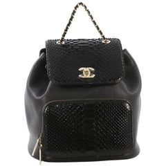 Chanel Business Affinity Backpack Caviar and Python Small