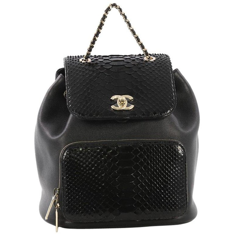 a33723607bed Chanel Business Affinity Backpack Caviar and Python Small For Sale ...