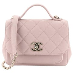 Chanel Business Affinity Flap Bag Quilted Caviar Mini