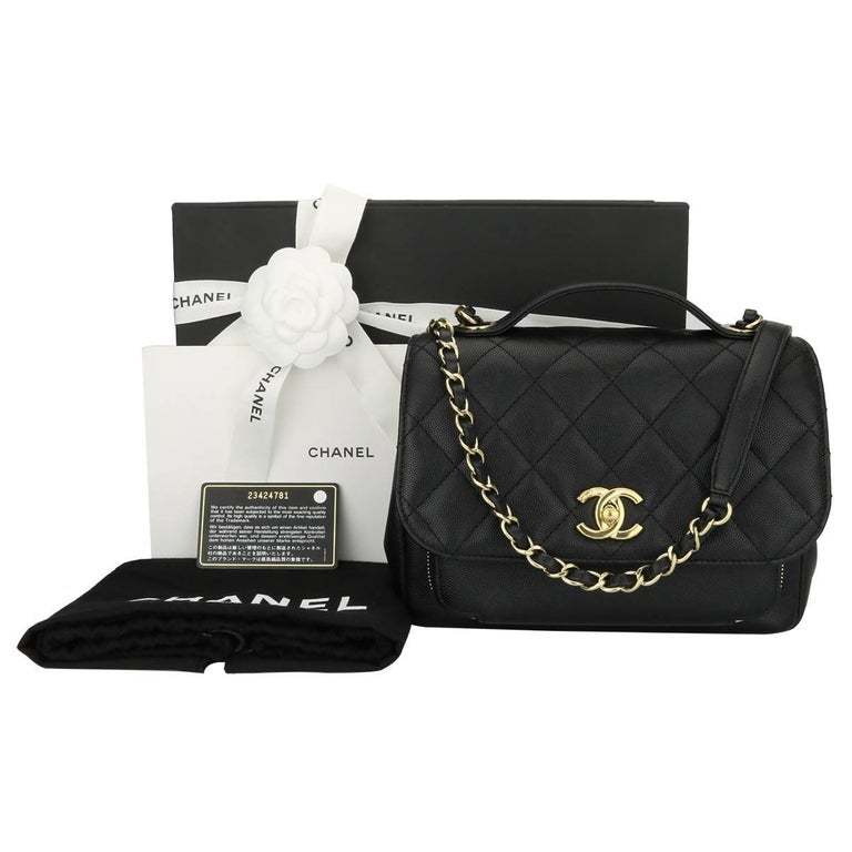 79a874371798 CHANEL Business Affinity Medium Black Caviar with Champagne Hardware 2017  For Sale 15