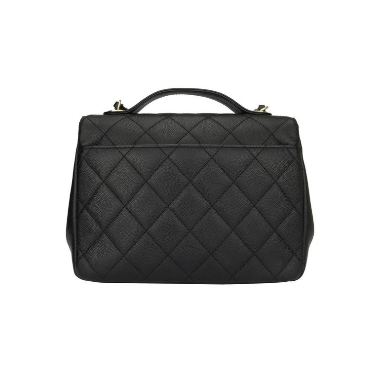 d8c9c9ce4eaa CHANEL Business Affinity Medium Black Caviar with Champagne Hardware 2017  In Excellent Condition For Sale In