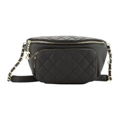 Chanel Business Affinity Waist Bag Quilted Caviar Small