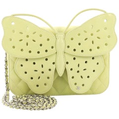 Chanel Butterfly Clutch Quilted Leather Mini