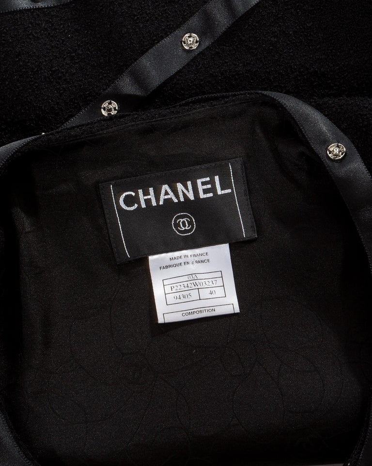 Chanel by Karl Lagerfeld black studded 3 piece skirt suit, A/W 2003 For Sale 4