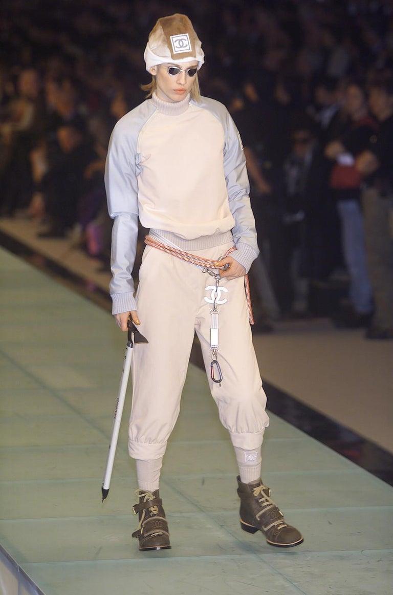 Women's Chanel by Karl Lagerfeld fawn fur trapper hat, fw 2001 For Sale