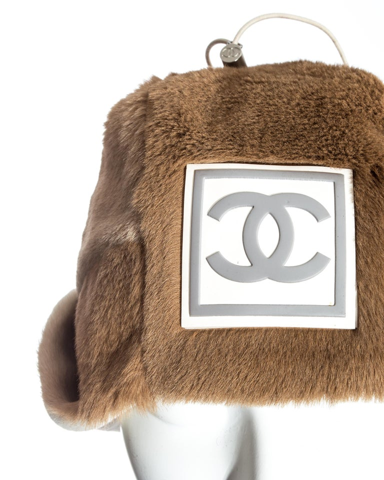 Chanel by Karl Lagerfeld fawn fur trapper hat, fw 2001 For Sale 1