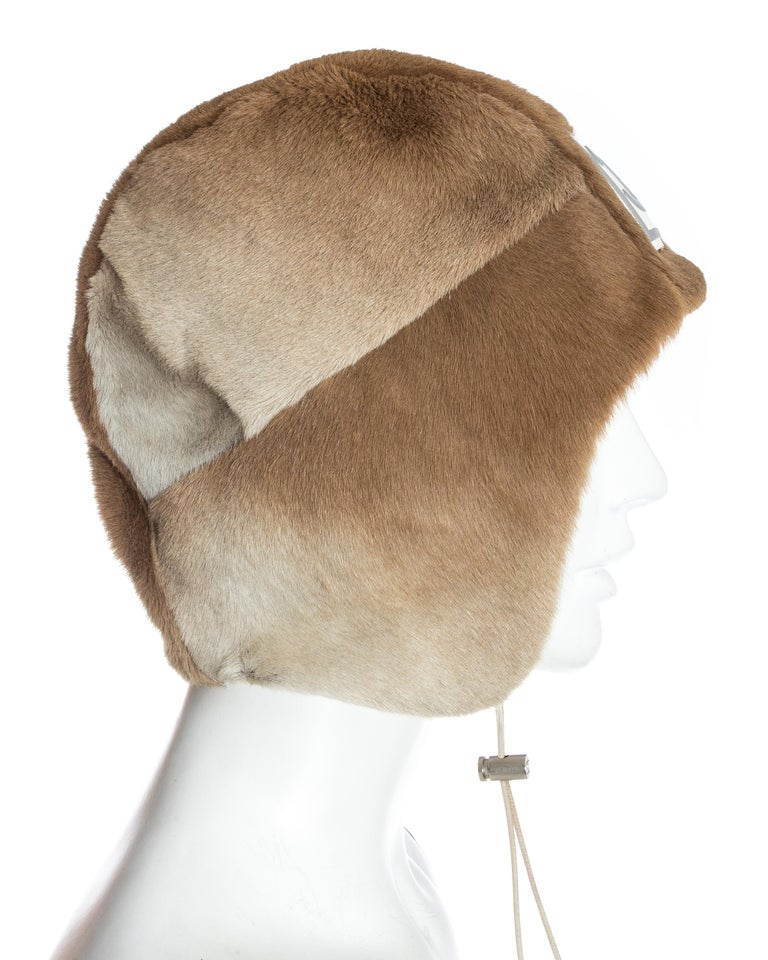 Chanel by Karl Lagerfeld fawn fur trapper hat, fw 2001 For Sale 4