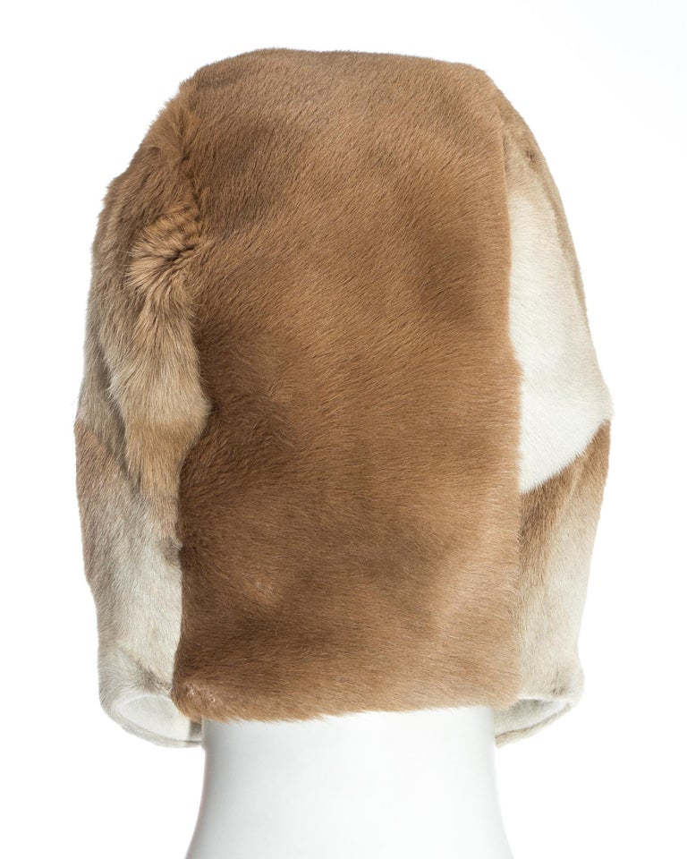 Chanel by Karl Lagerfeld fawn fur trapper hat, fw 2001 For Sale 5