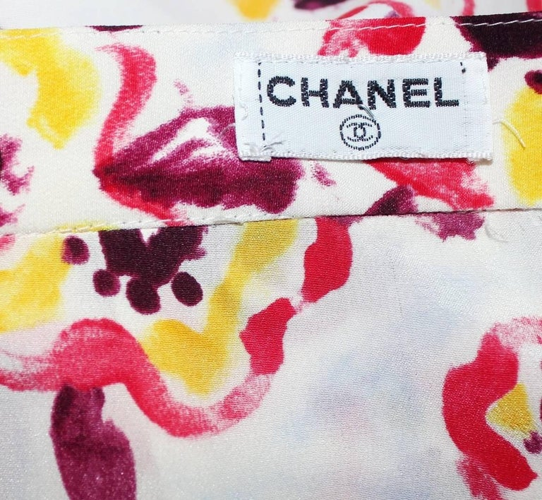 Chanel by Karl Lagerfeld Logo Print Shorts Top Hot Pants Swim Suit Set Ensemble For Sale 5