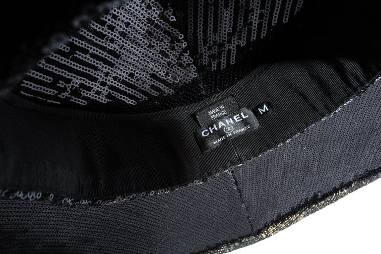 Chanel by Karl Lagerfeld, 'Paris-Shangai' bronze sequin conical hat, pf 2010 For Sale 7
