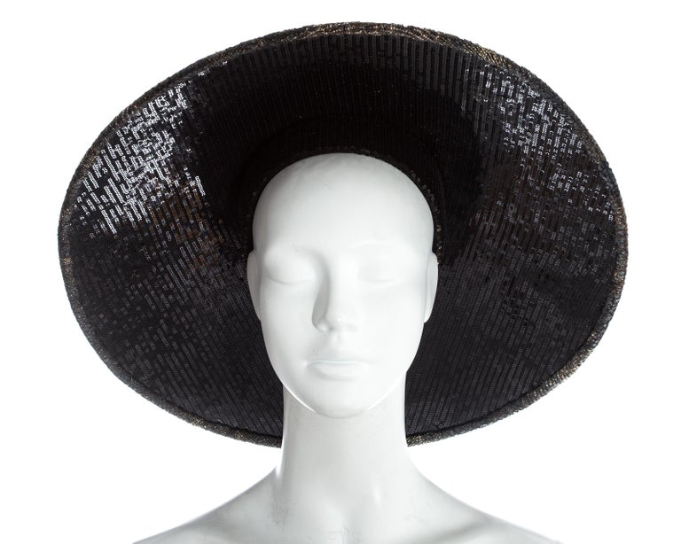 Chanel by Karl Lagerfeld, 'Paris-Shangai' bronze sequin conical hat, pf 2010 For Sale 1
