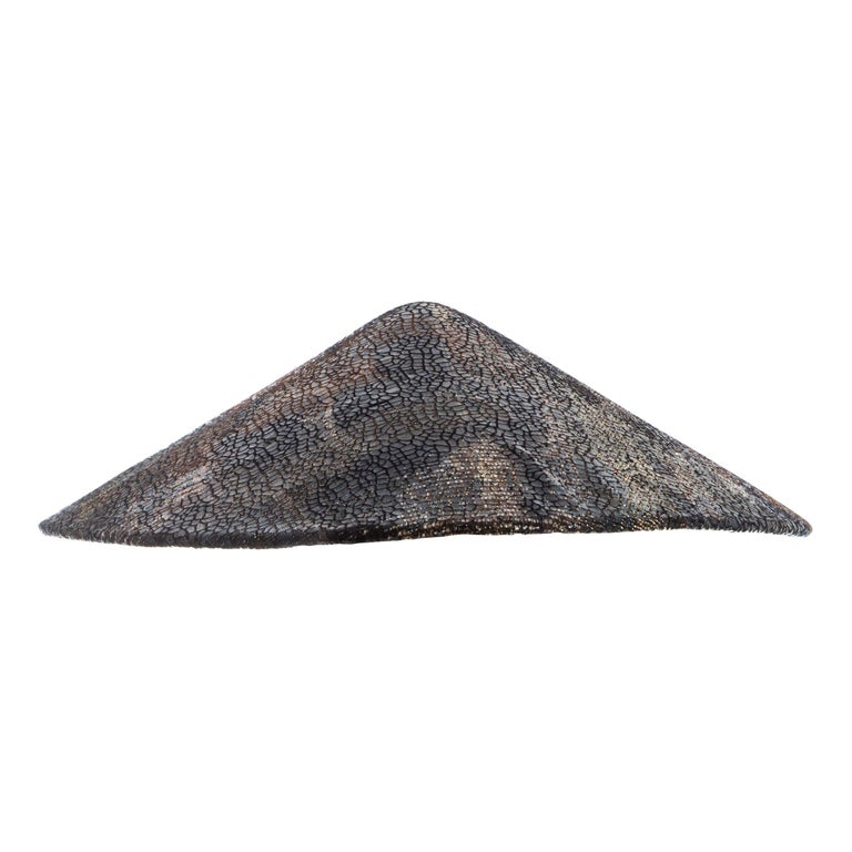 Chanel by Karl Lagerfeld, 'Paris-Shangai' bronze sequin conical hat, pf 2010 For Sale
