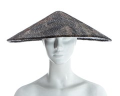 Chanel by Karl Lagerfeld, 'Paris-Shangai' bronze sequin conical hat, pf 2010