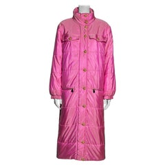 Chanel by Karl Lagerfeld pink silk puffer coat with Gripoix buttons, fw 1996