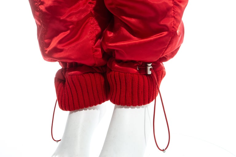 Chanel by Karl Lagerfeld red sport cropped tracksuit, fw 2003 For Sale 6
