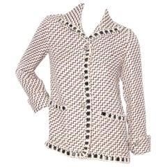 Chanel by Karl Lagerfeld Tweed Zig Zag Jacket