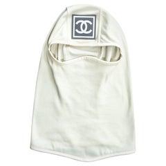 Chanel by Karl Lagerfeld white ski mask, fw 2001